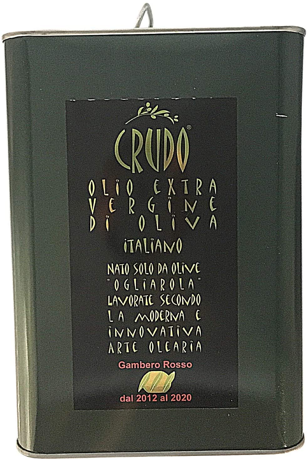 Schiralli, Olio extravergine di Oliva Italiano Crudo – Olive 100% Monocultivar Ogliarola Pugliese – Raccolto 2020 – Olio EVO ott
